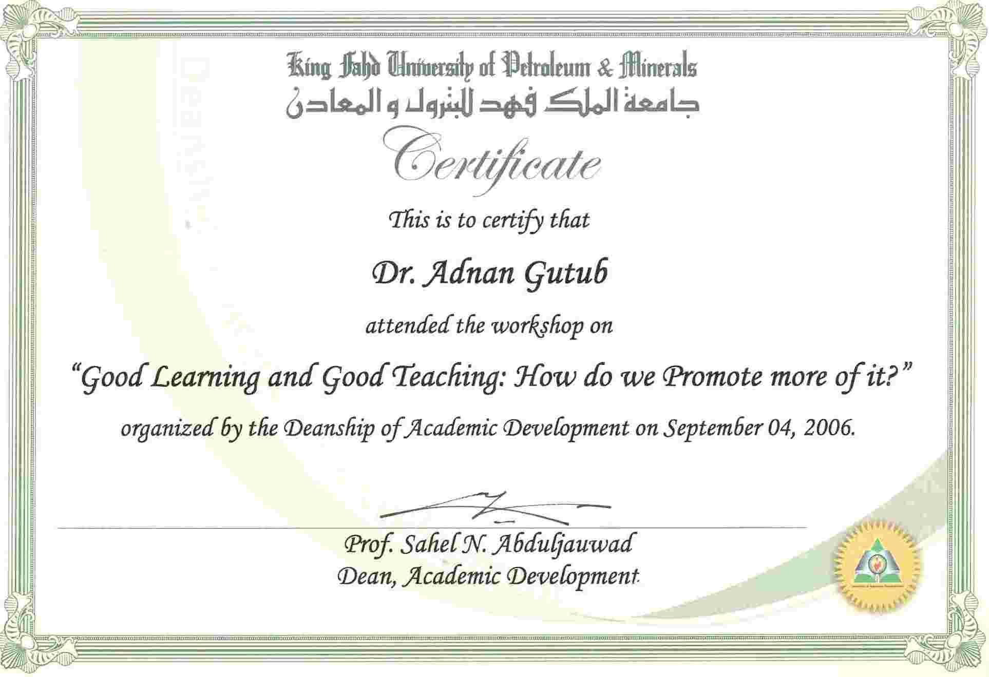 Professional Development Adnan Abdulaziz Muhammad Gutub Computer