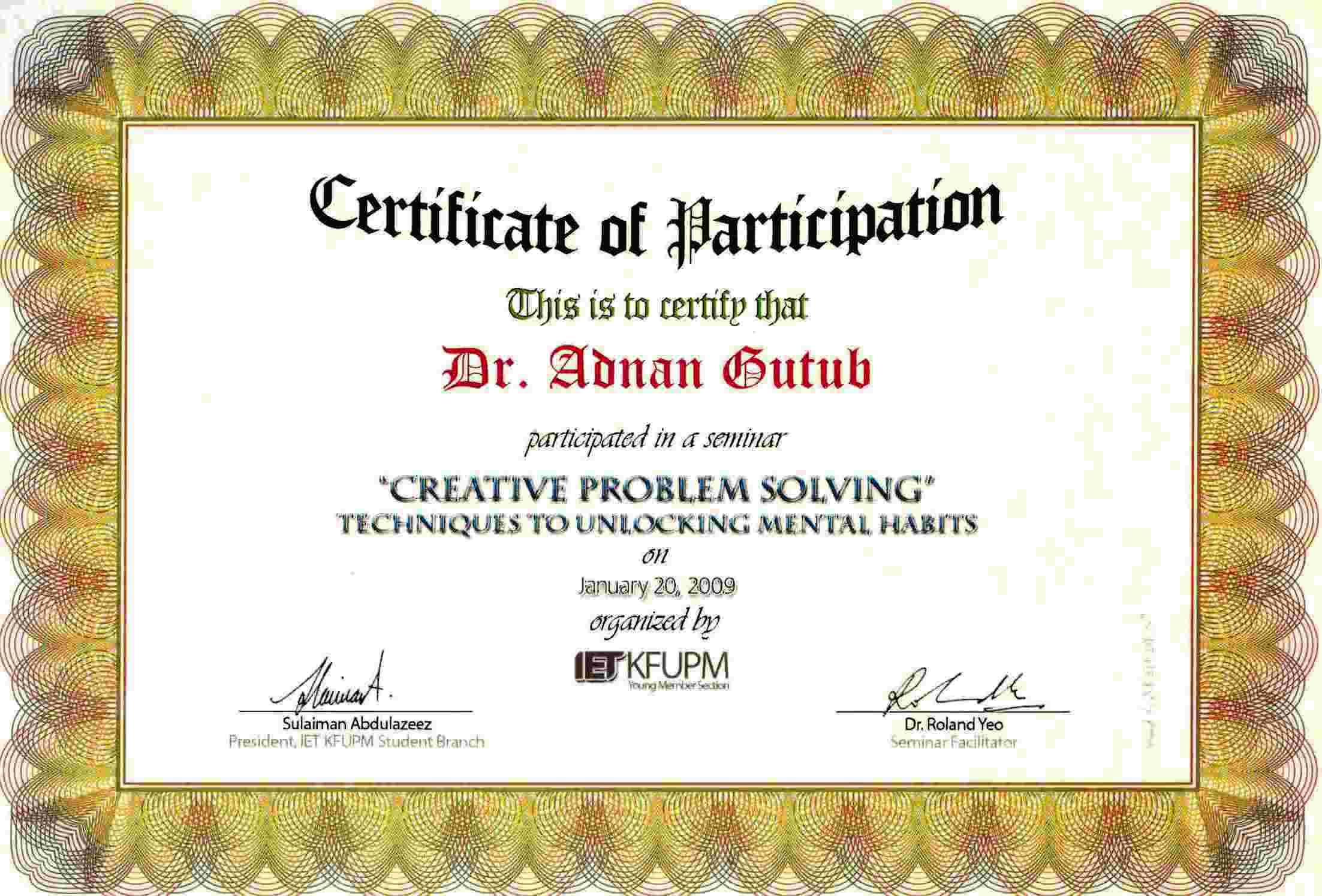 Representing kfupm adnan abdulaziz muhammad gutub department certificate jpg pdf yelopaper Image collections