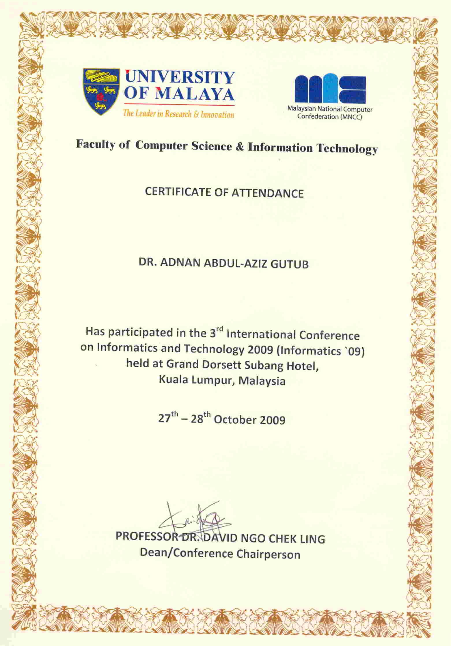 Representing Kfupm Adnan Abdulaziz Muhammad Gutub Computer