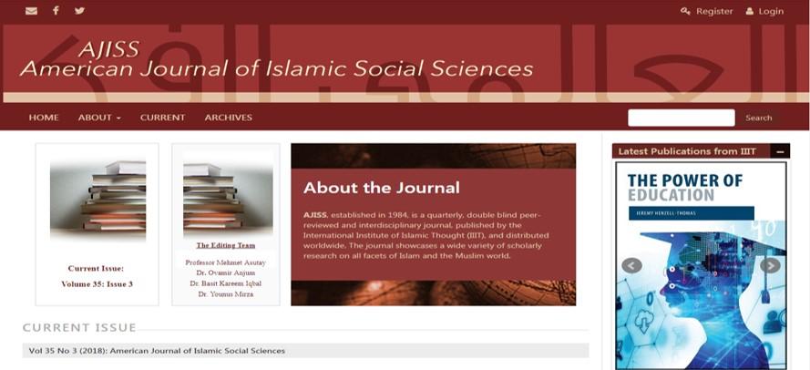 المجلة الأمريكية للعلوم الاجتماعية الإسلامية