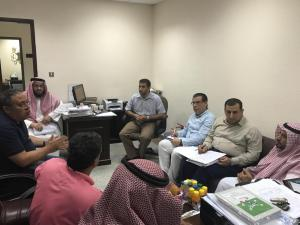 The Dean of Al-Qunfudhah University College Visits the Department of Chemistry and the Biology Section
