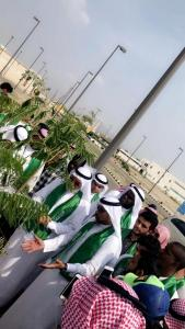 Students of the Colleges of Engineering and Computer in Al-Leith Participate in the Greening Campaign in the University
