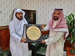 شكر وتقدير للأستاذ عادل بن منصور شراحيلي عضو هيئة التدريس بقسم الدراسات القضائية