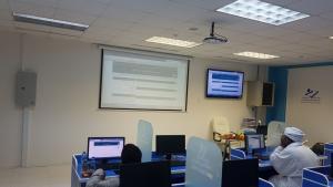 ورشة العمل بعنوان (بناء المحتوى وتسليم الأبحاث إلكترونياً)