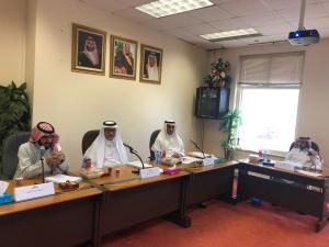 مناقشة رسالة ماجستير للطالب فهد بن عبدالله الوليدي