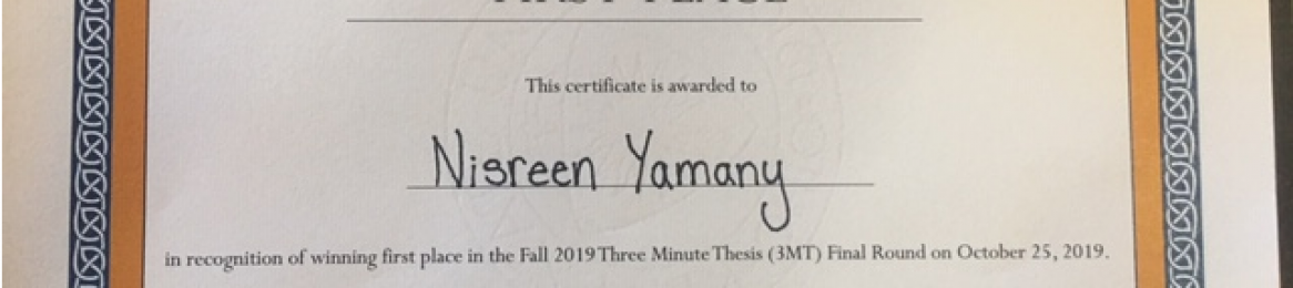 English Language Scholarship Student Nisreen Yamany Gains the First Position in (3 MT Competition)