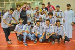 The Youth of the College of Social Sciences Receive the UQU President's Cup of the Football League
