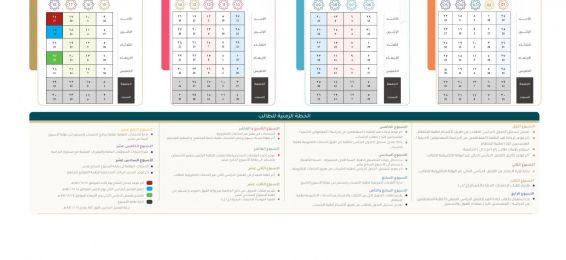 التقويم الزمني للفصل الدراسي الثاني - العام الدراسي 1441هـ