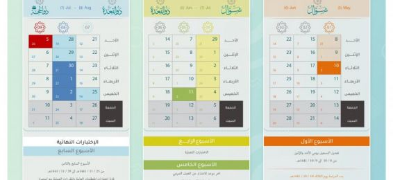 Academic Calendar for the Summer Semester (1441 A.H.)