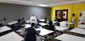The Students of Al-Maarefa Secondary School Visit the College of Designs and Arts (Male Section)