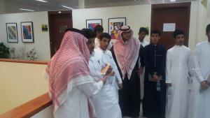 زيارة طلاب المدارس الثانوية لكلية التصاميم (شطر الطلاب)