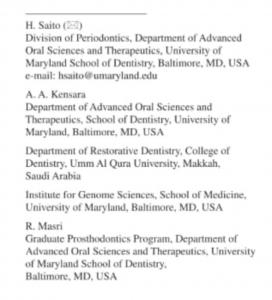 مبتعث كلية طب الأسنان الدكتور أنمار كسارة يشارك في كتابة مرجع علمي