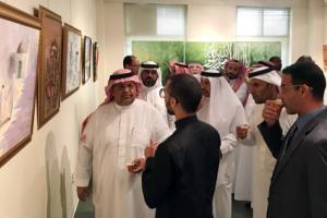 Dean of the College of Education Launches the Annual Exhibition of the Department of Art Education