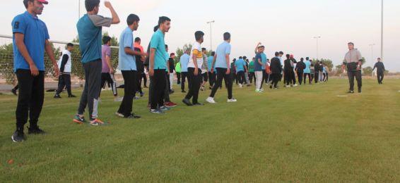 انتهاء فعاليات اليوم الثاني من المعسكر السنوي لطلاب قسم التربية البدنية