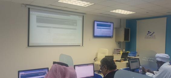 دورةتدريبيةبكلية إدارة الأعمال حول (نظام الفصول الافتراضية)