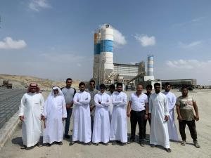 Students of the College of Engineering Visit Al-Martan Concrete Factory