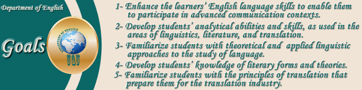 Objectives of the English Language Department
