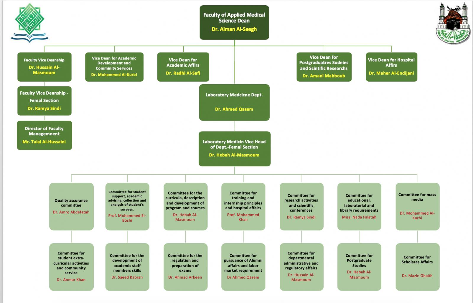الهيكل التنظيمي الجديد