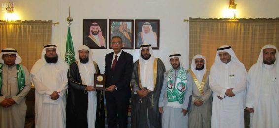 سفير المملكة لدى نيجيريا يستقبل عميد معهد اللغة العربية والوفد المرافق له