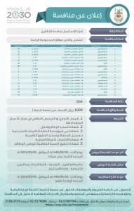 إعلان عن طرح مواقع استثمارية للتأجير في جامعة أم القرى