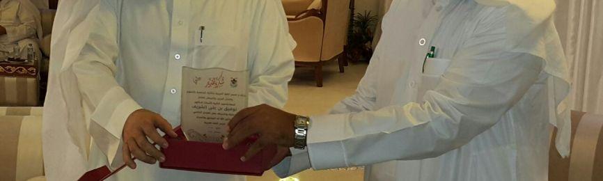 Département de la Langue Arabe apprécie la présence du Doyen de la Faculté, Dr Al-Charif, à la consécrationdu Département