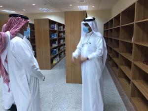 زيارة محافظ الجموم أ. فهد القثامي للكلية الجامعية بالجموم