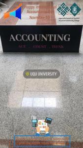 انعقاد احتفالية (اليوم العالمي للمحاسبة) بالكلية الجامعية بالجموم