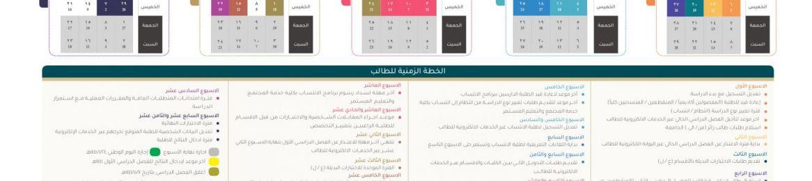 التقويم الزمني للفصل الدراسي الأول 1440/ 1441هـ
