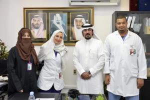 وكيل كلية العلوم الصحية بالليث للمستشفيات يزور مستشفى الملك فهد للقوات المسلحة بجدة