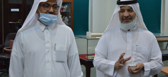 The General Supervisor of the University Vice Presidency for Postgraduate Studies and Scientific Research Visits the Deanship of Library Affairs