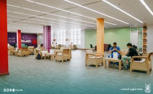 وكيل الجامعة للدراسات العليا والبحث العلمي يدشن قاعة المطالعة بمكتبة الملك عبدالله الجامعية