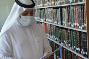 زيارة سعادة المشرف العامعلى وكالة الجامعة للدراسات والبحث العلمي لعمادة شؤون المكتبات