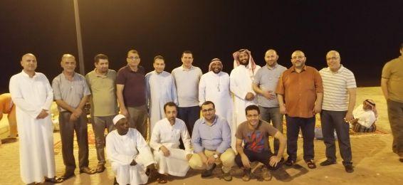 أعضاء هيئة التدريس بقسم الرياضيات يحتفلون بترقية الدكتور الحسين الناشري