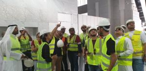طلاب كلية المجتمع يزورون رئاسة شؤون الحرمين