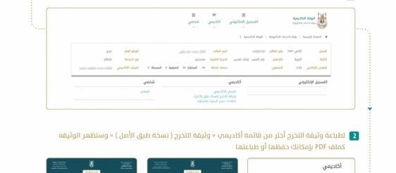 تسليم وثائق التخرج والسجلات الأكاديميَّة في (أم القرى) إلكترونيًّا