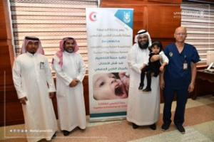 وكيل الجامعة يطلق حملة للتطعيم ضد شلل الأطفال