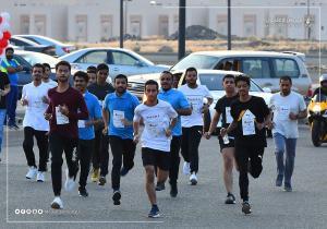 ماراثون رياضي يستقطب هواة الجري بـ(أم القرى)