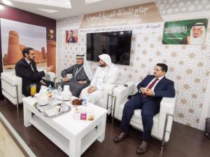 وزير الثقافة والشباب والرياضة المغربي يزور جناح (أم القرى) بمعرض الدار البيضاء للكتاب