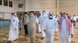 UQU and the Directorate of Health Affairs in Makkah Launch the Field Hospital for Coronavirus Patients with a 500-Bed Capacity