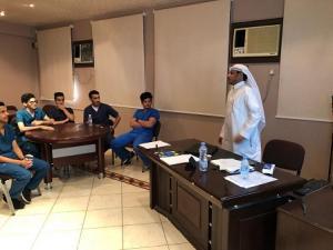 قسم التوعية والتعزيز الصحى يواصل برنامج التدريب الحقلى لطلاب السنة الرابعة