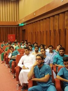 النادي الطلابي بالكلية ينظم محاضرة بعنوان (النية سر التغير)