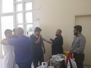 تطعيم ضد الانفلونزا الموسمية بالتعاون مع مستشىفى أجياد