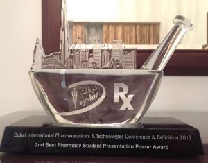 The College of Pharmacy Wins Three Awards in DUPHAT 2017 Conference in Dubai