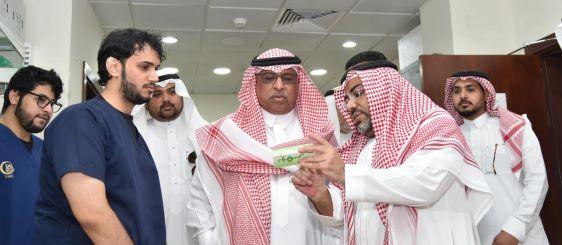 معالي مدير الجامعة يتفقد المركز الطبي الجامعي