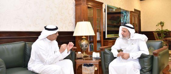مدير الجامعة يبحث أوجه التعاون مع وزارة الصحة بالبرامج البحثية لصحة ضيوف الرحمن