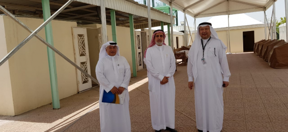 UQU President Inspects Premises of Hajj and Umrah Research Institute in Mina and Arafah