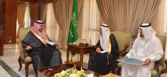 مدير العلاقات العامة يرافق معالي مدير الجامعة في زيارته للأمير بدر بن سلطان