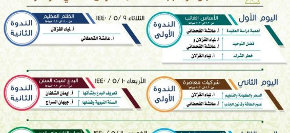 إدارة العلاقات العامة تنظم ملتقى (المحجة البيضاء) الذي تقيمه وزارة الشؤون الإسلامية