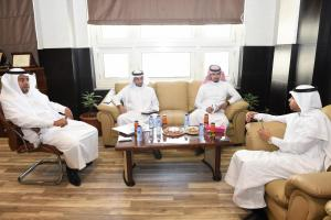 Dean of Admission and Registration Receives his Counterpart from Tabuk University