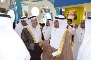 UQU President Checks on University Pavilions at IECHE